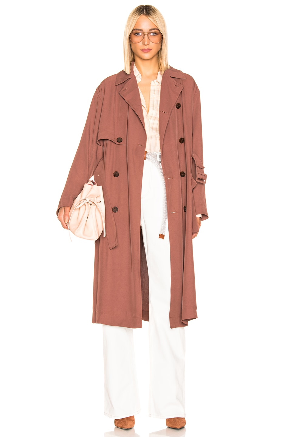 Image 1 of Acne Studios Olicia Coat in Dusty Pink