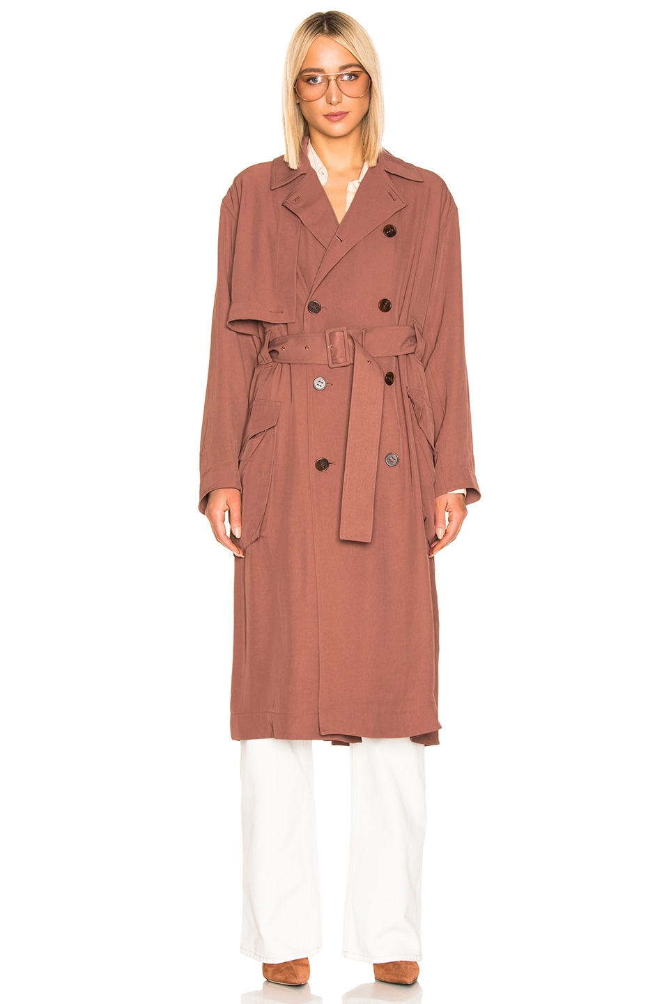 Image 2 of Acne Studios Olicia Coat in Dusty Pink