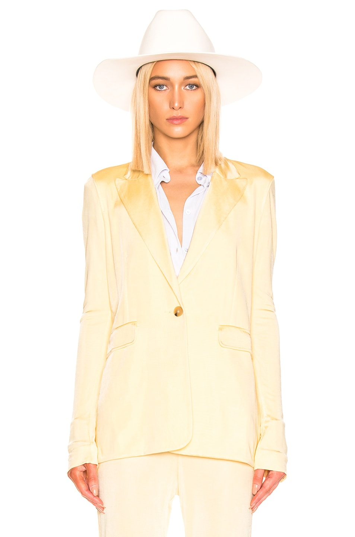 Image 2 of Acne Studios Janine Suit Jacket in Vanilla Yellow