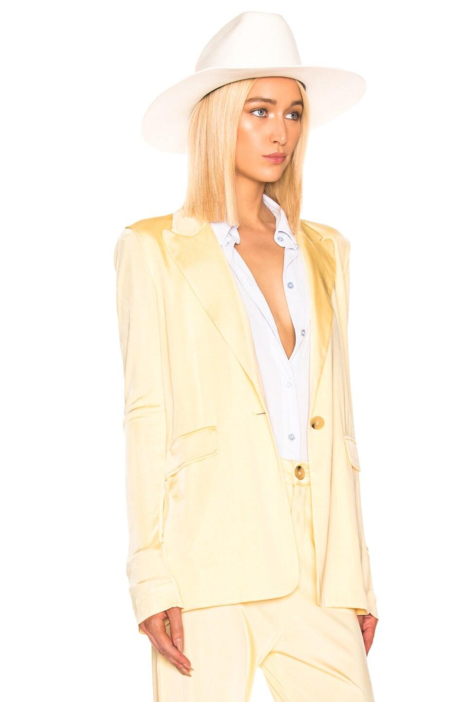 Image 3 of Acne Studios Janine Suit Jacket in Vanilla Yellow