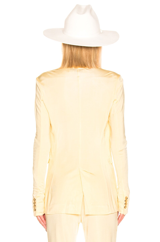 Image 4 of Acne Studios Janine Suit Jacket in Vanilla Yellow
