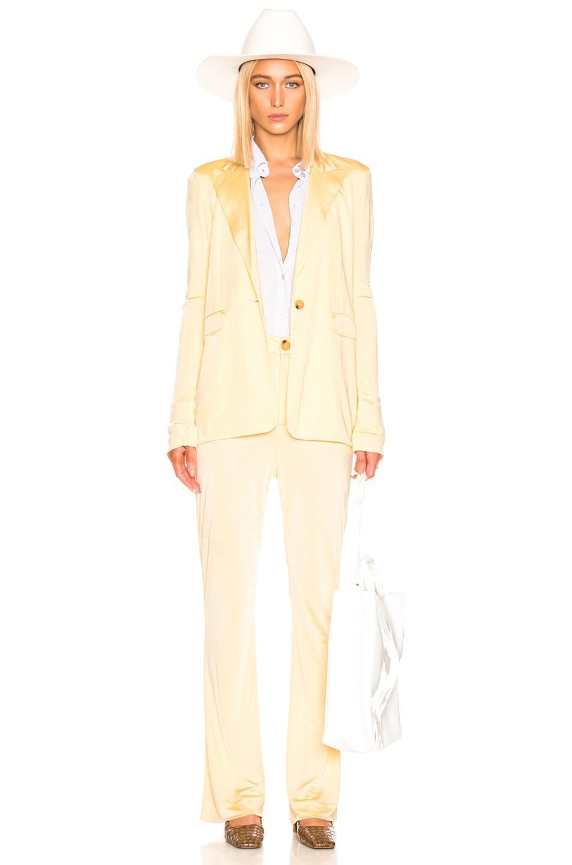 Image 5 of Acne Studios Janine Suit Jacket in Vanilla Yellow