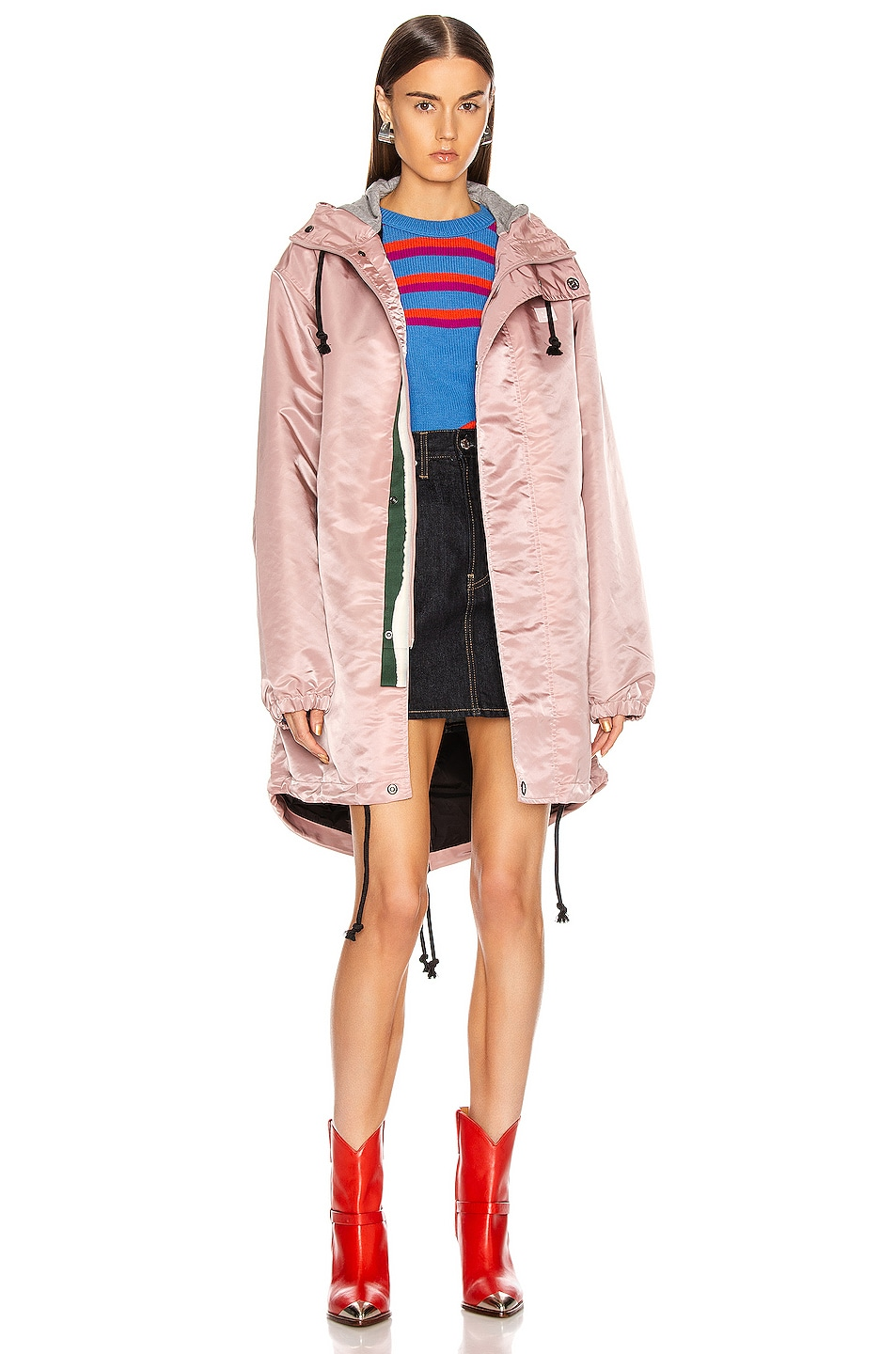 Image 1 of Acne Studios Osborn Face Jacket in Dusty Pink