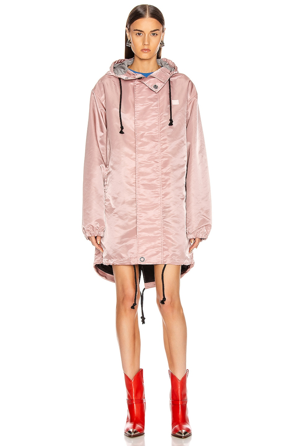 Image 2 of Acne Studios Osborn Face Jacket in Dusty Pink