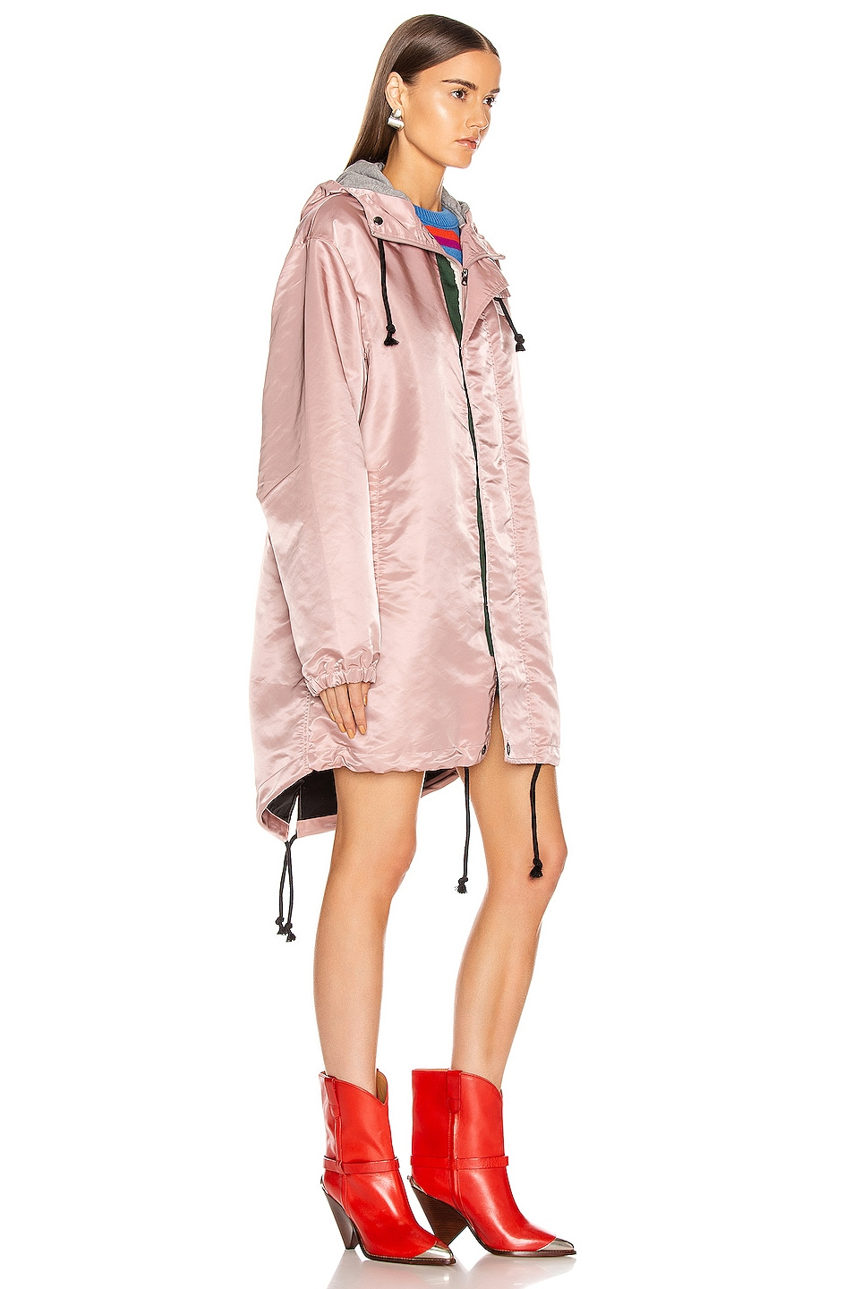 Image 3 of Acne Studios Osborn Face Jacket in Dusty Pink