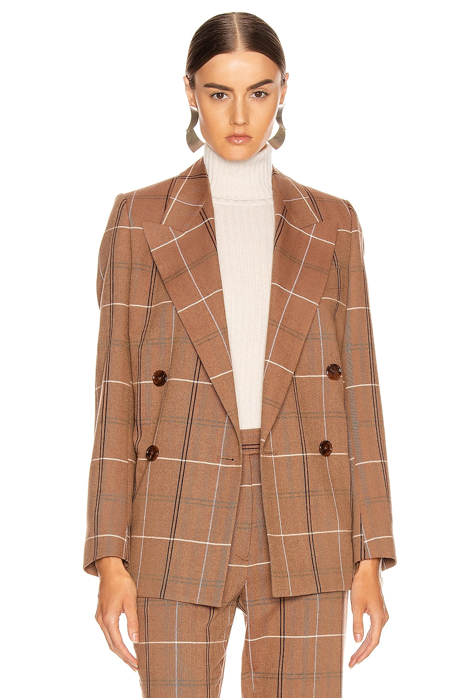 Image 3 of Acne Studios Suit Jacket in Brown & White