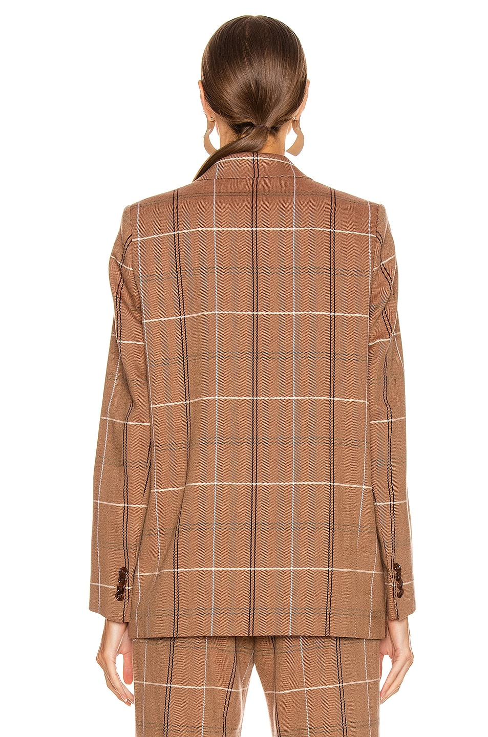 Image 5 of Acne Studios Suit Jacket in Brown & White