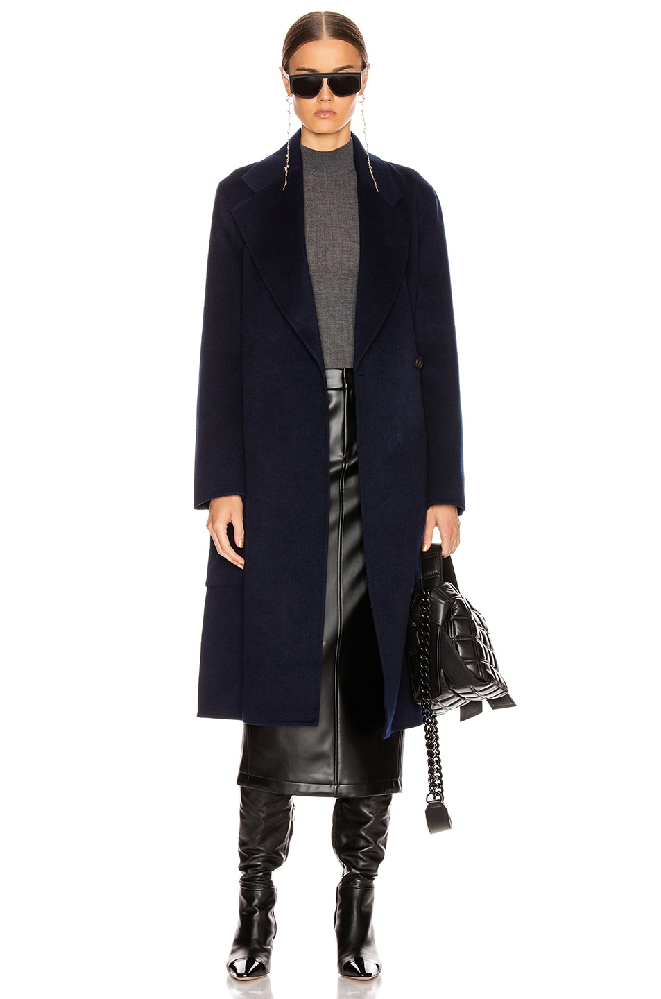 Image 1 of Acne Studios Carice Coat in Navy Blue