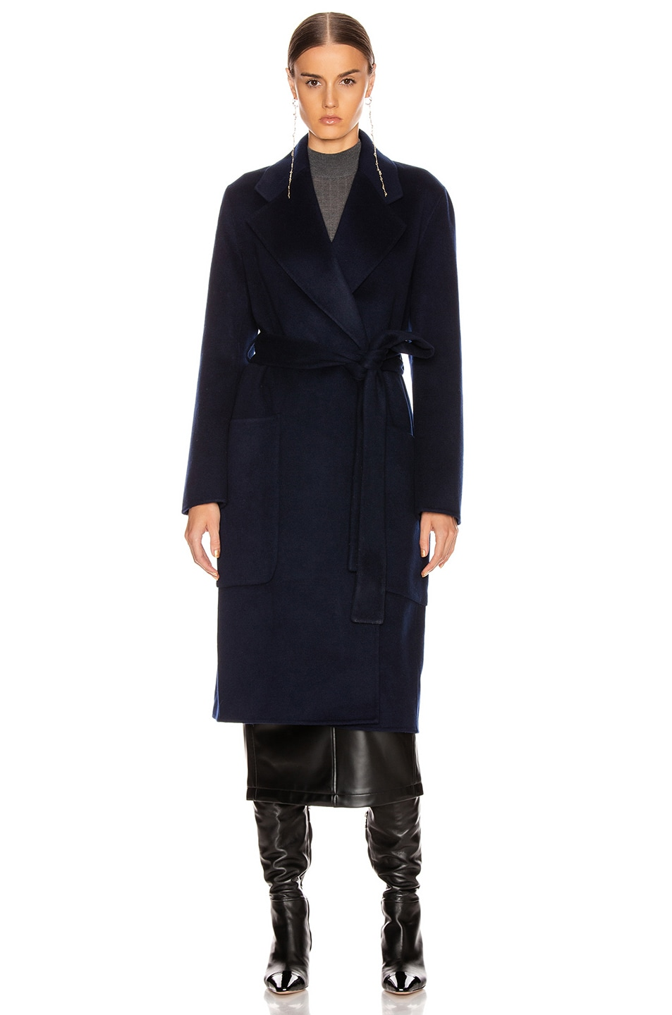 Image 2 of Acne Studios Carice Coat in Navy Blue