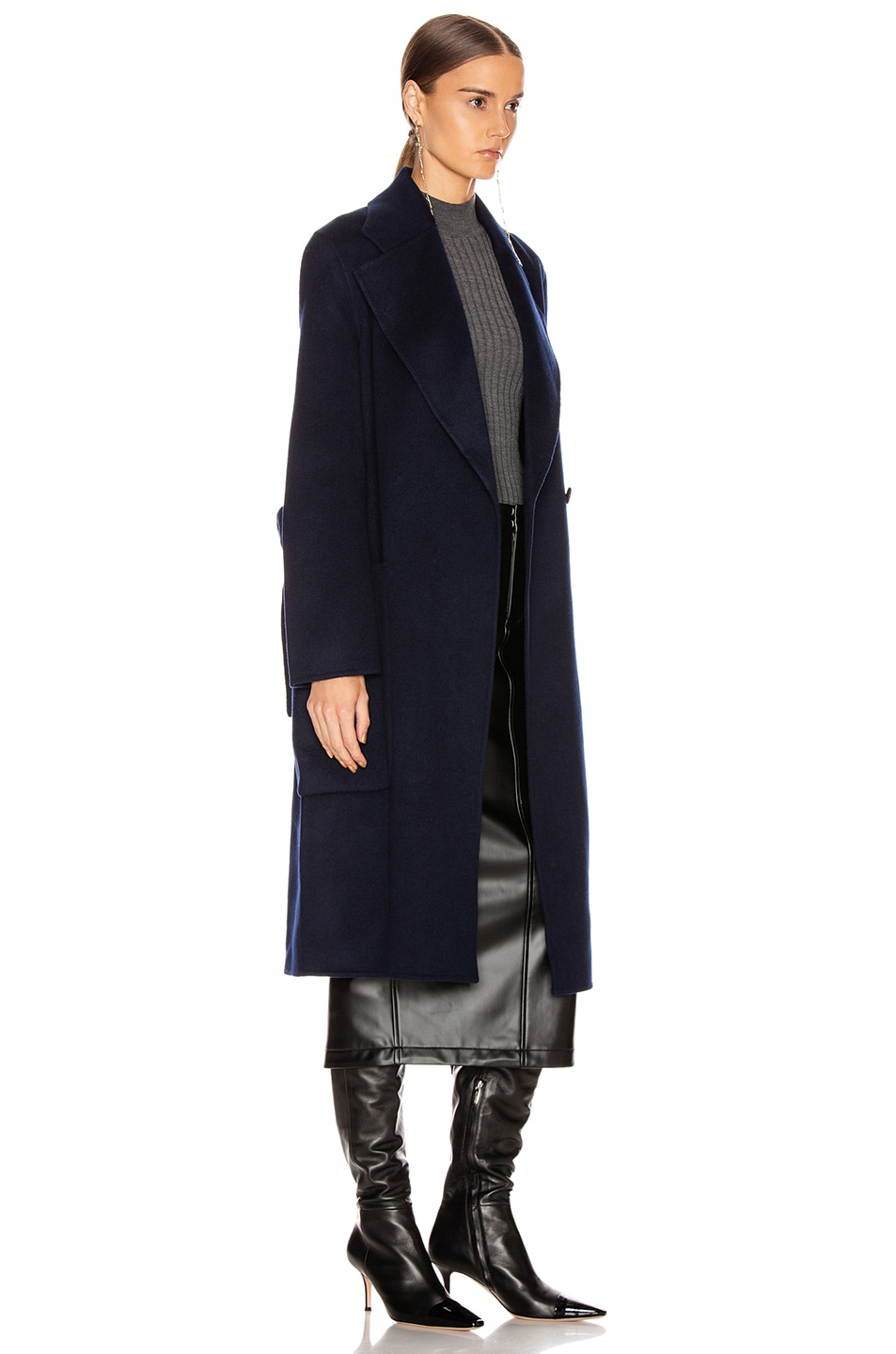 Image 3 of Acne Studios Carice Coat in Navy Blue