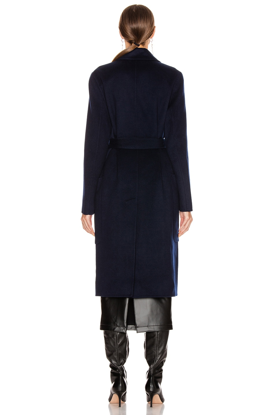 Image 4 of Acne Studios Carice Coat in Navy Blue