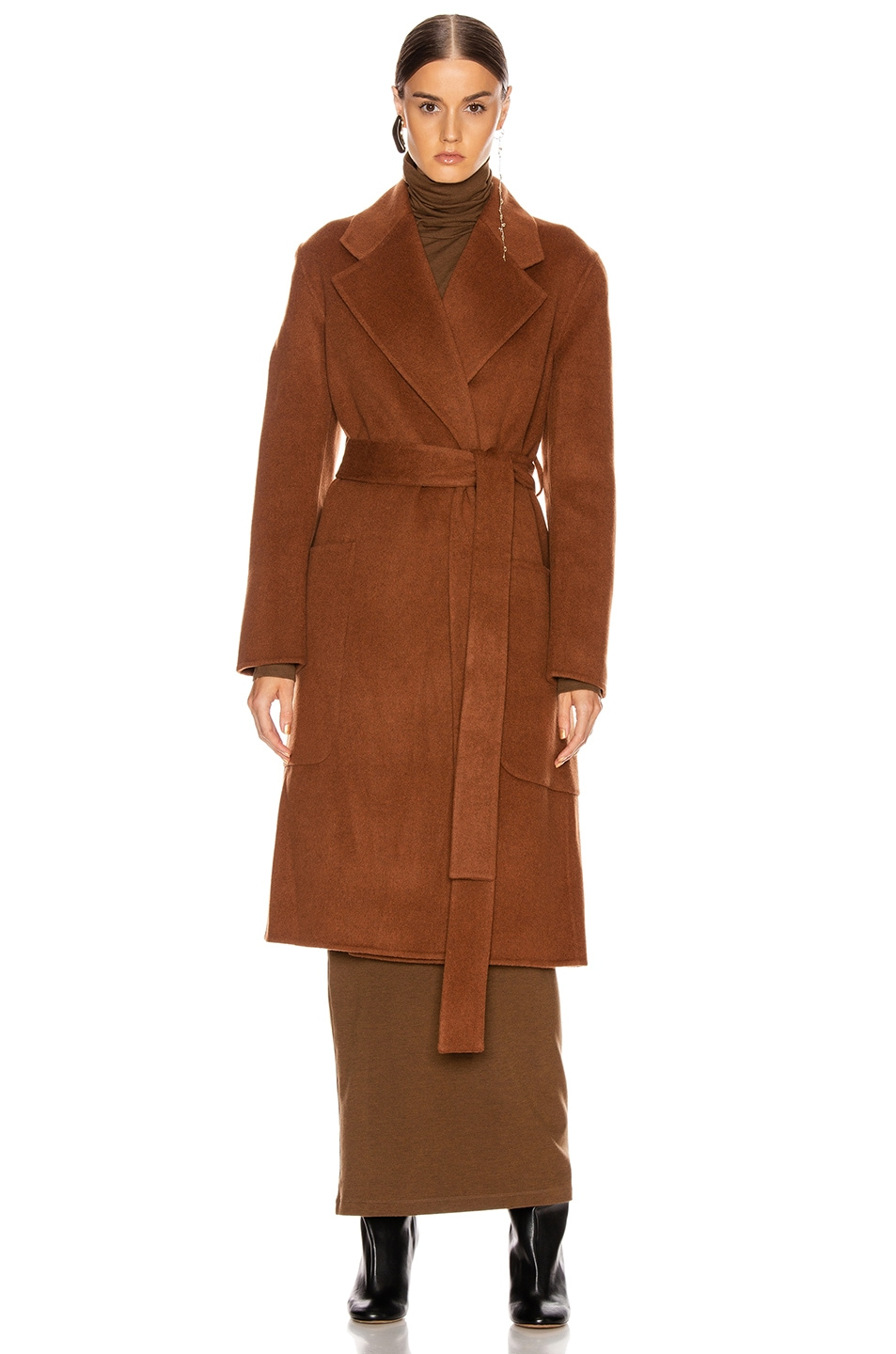 Image 2 of Acne Studios Carice Coat in Rusty Brown