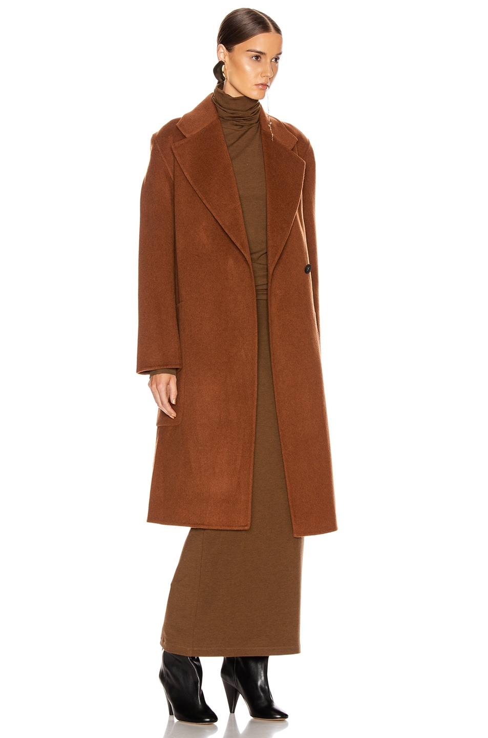 Image 3 of Acne Studios Carice Coat in Rusty Brown