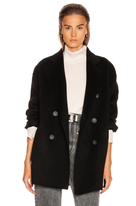 Image 1 of Acne Studios Odine Double Coat in Black
