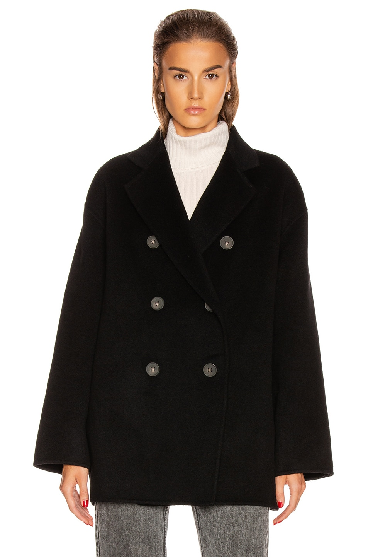 Image 2 of Acne Studios Odine Double Coat in Black