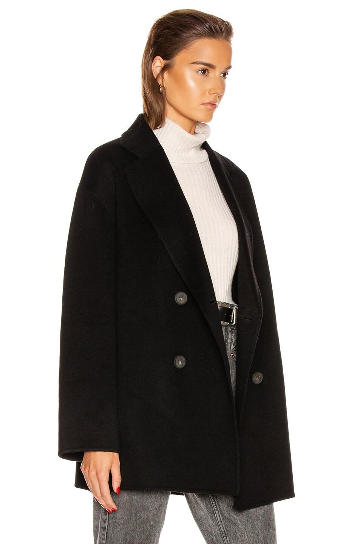 Image 3 of Acne Studios Odine Double Coat in Black