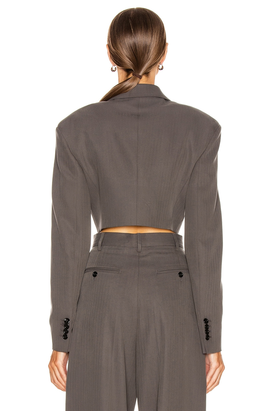 Image 4 of Acne Studios Judethe Suit Jacket in Charcoal Grey