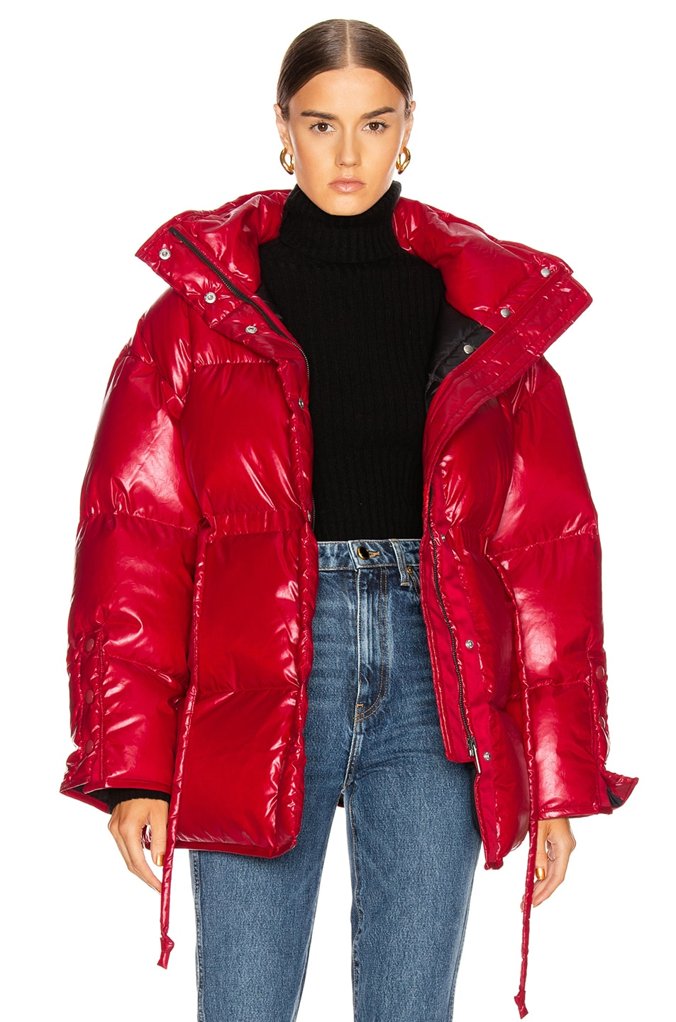 Image 1 of Acne Studios Ophira Down Jacket in Dark Red