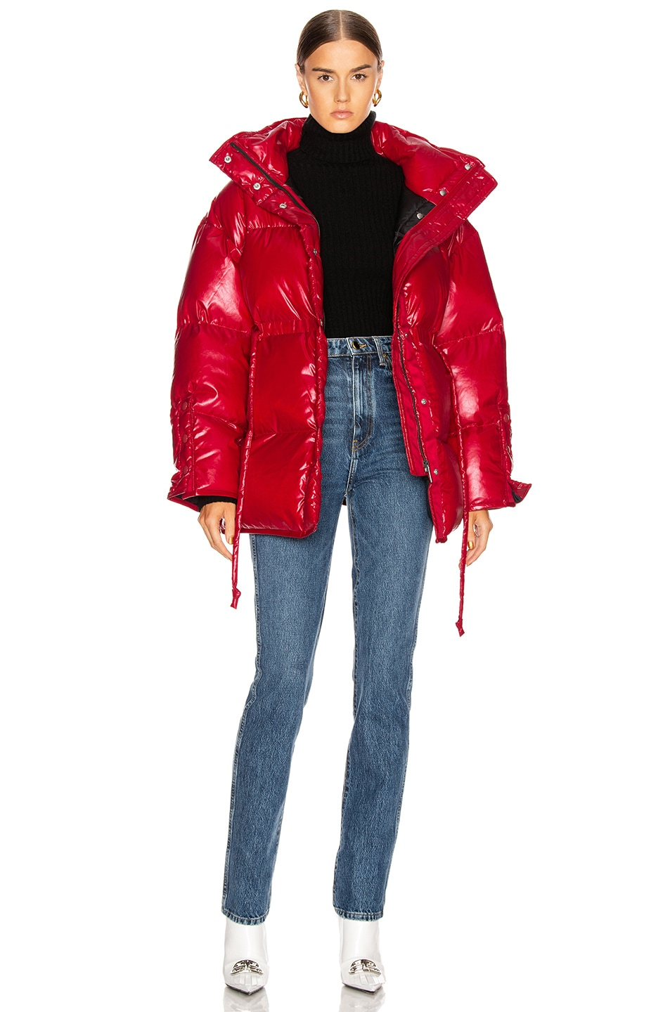 Image 5 of Acne Studios Ophira Down Jacket in Dark Red