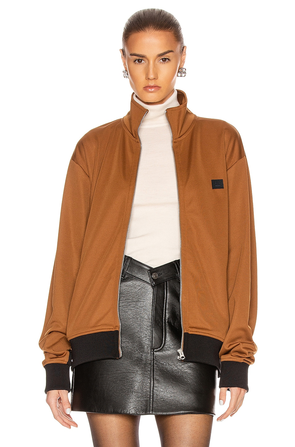 Image 1 of Acne Studios Face Jacket in Caramel Brown