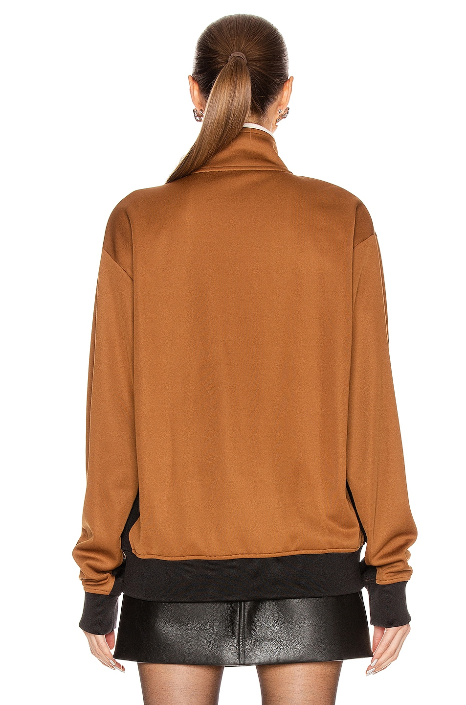 Image 4 of Acne Studios Frescot Face Jacket in Caramel Brown