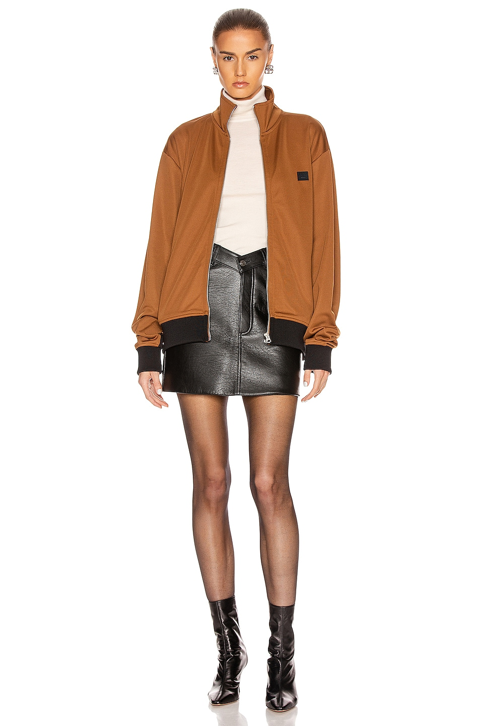 Image 5 of Acne Studios Frescot Face Jacket in Caramel Brown