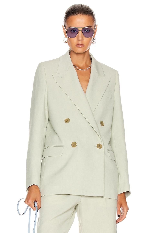 Image 1 of Acne Studios Suit Jacket in Pastel Green