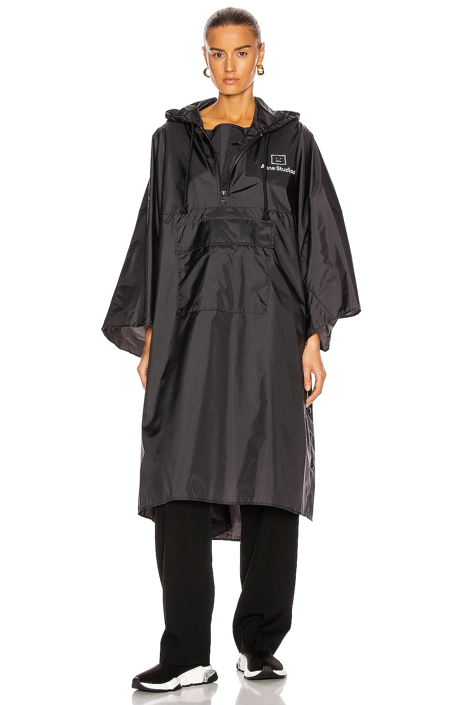Image 1 of Acne Studios Outpost Face Poncho in Black