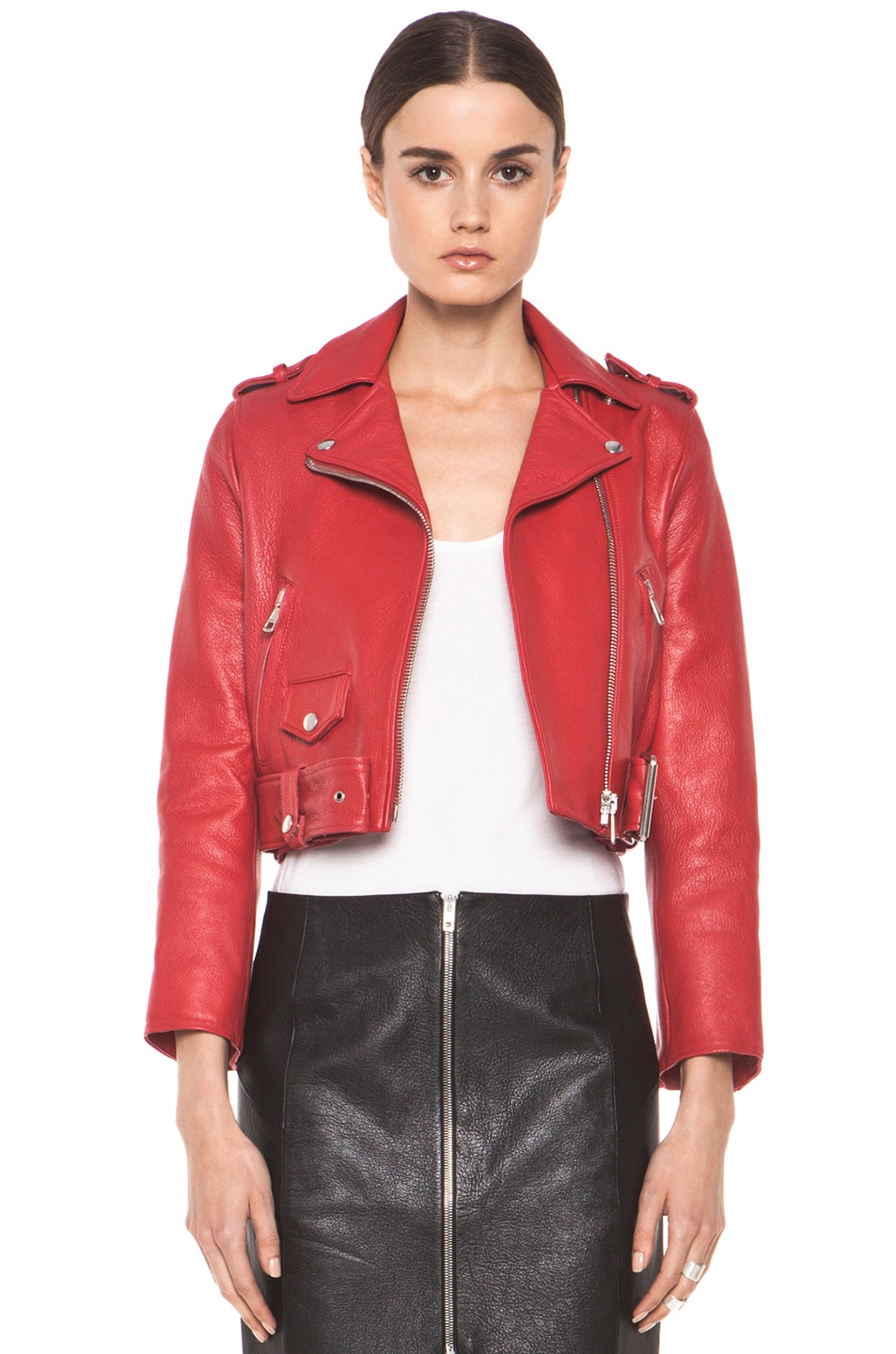 Image 1 of Acne Studios Mape Petite Jacket in Red