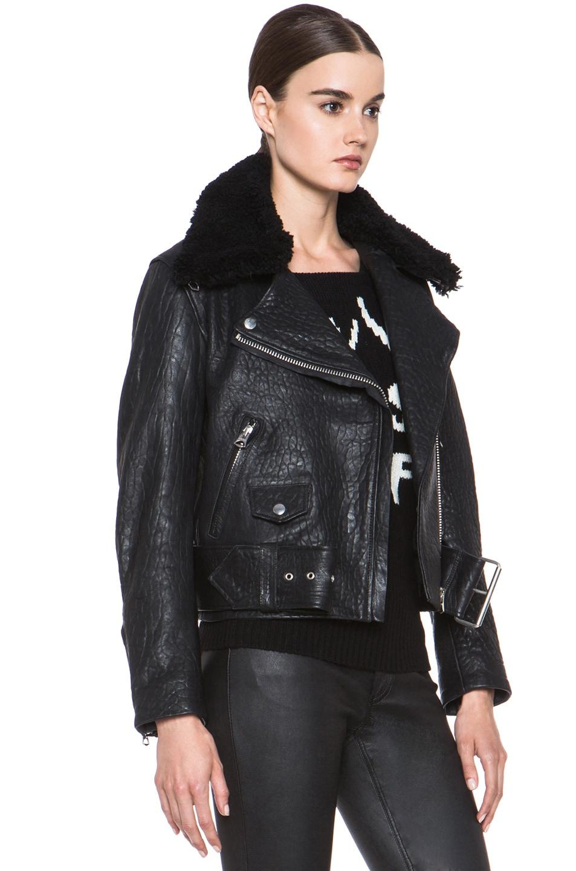 7abf8bebf Acne Studios Mape Leather Jacket in Black Noir | FWRD