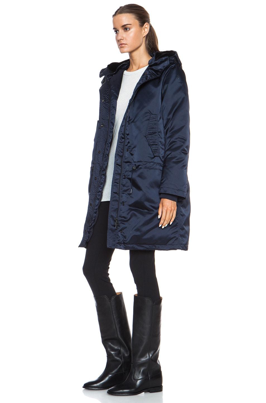 Image 3 of Acne Studios Powder Anorak Nylon-Blend Jacket in Midnight Blue