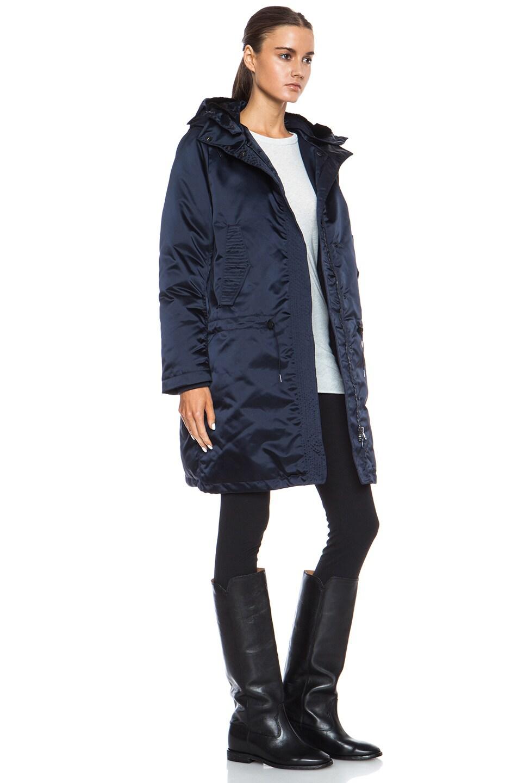 Image 4 of Acne Studios Powder Anorak Nylon-Blend Jacket in Midnight Blue