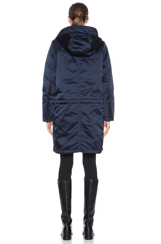 Image 5 of Acne Studios Powder Anorak Nylon-Blend Jacket in Midnight Blue