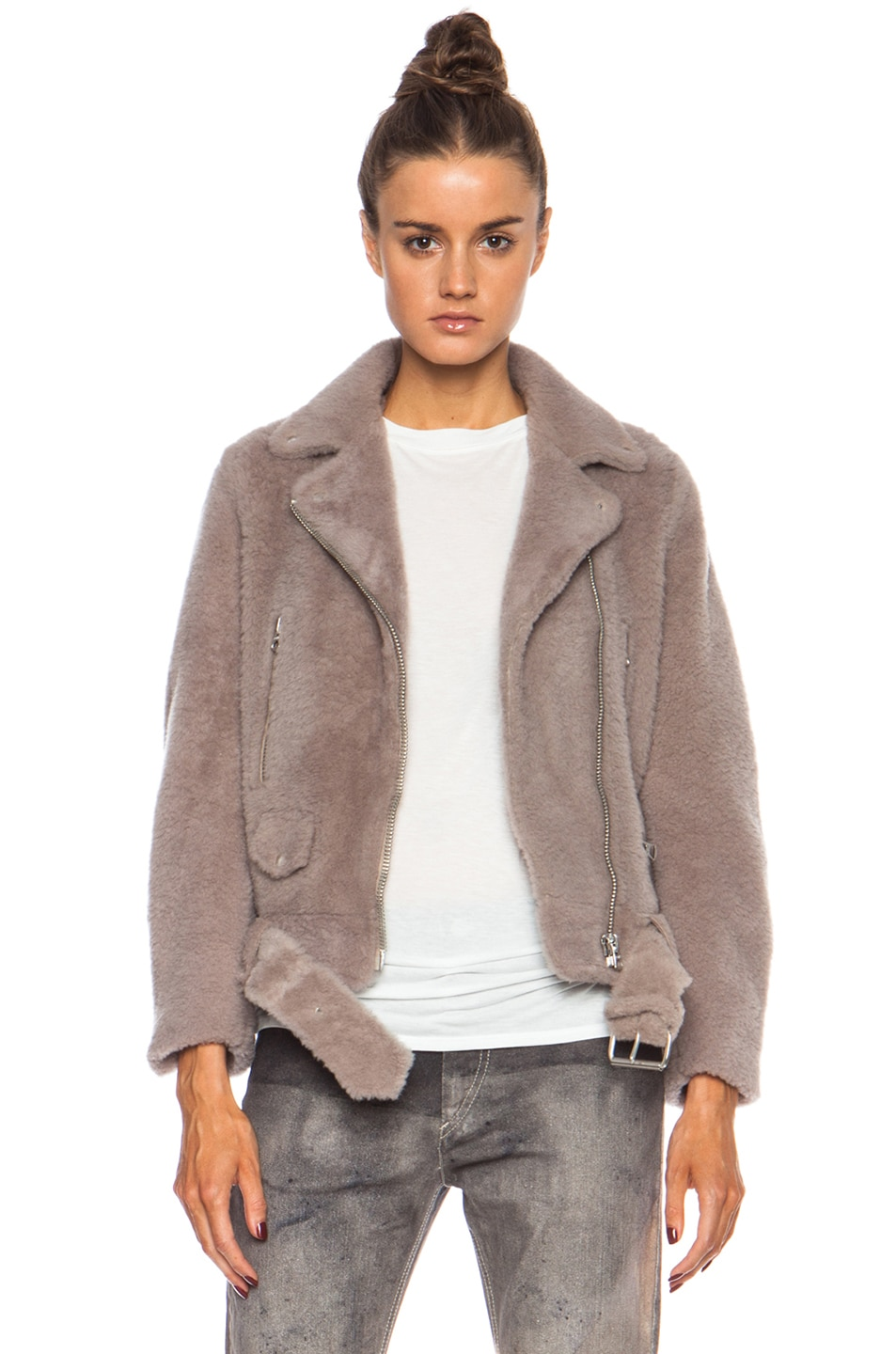 Image 1 of Acne Studios Mock Felted Jacket in Stone