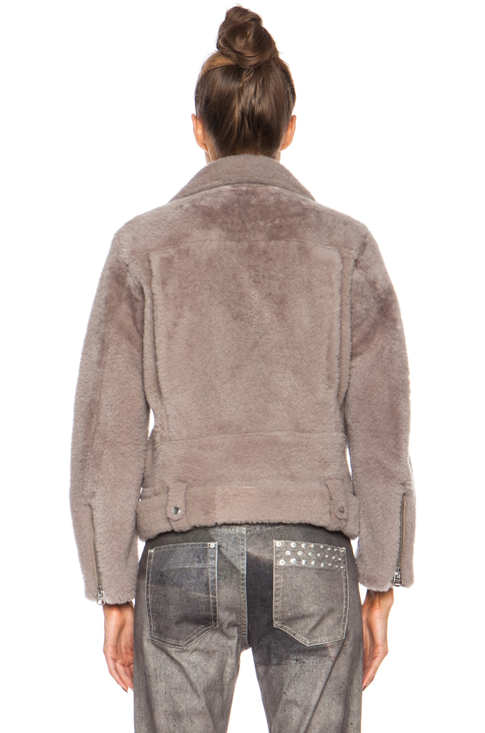 Image 5 of Acne Studios Mock Felted Jacket in Stone