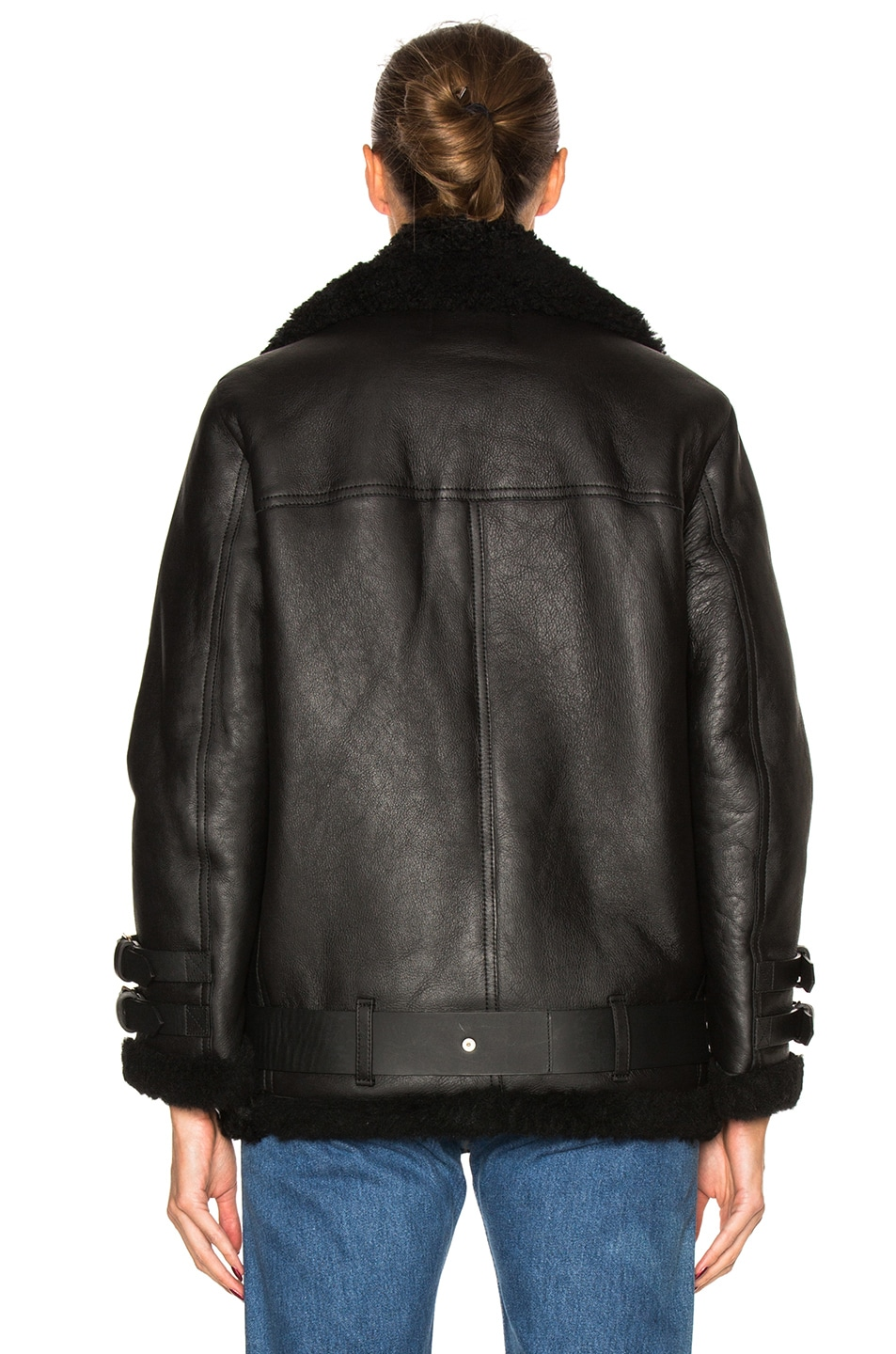 Image 5 of Acne Studios Velocite Leather Jacket in Black