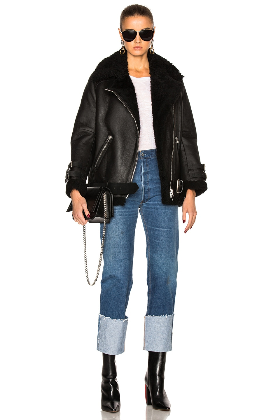 Image 6 of Acne Studios Velocite Leather Jacket in Black