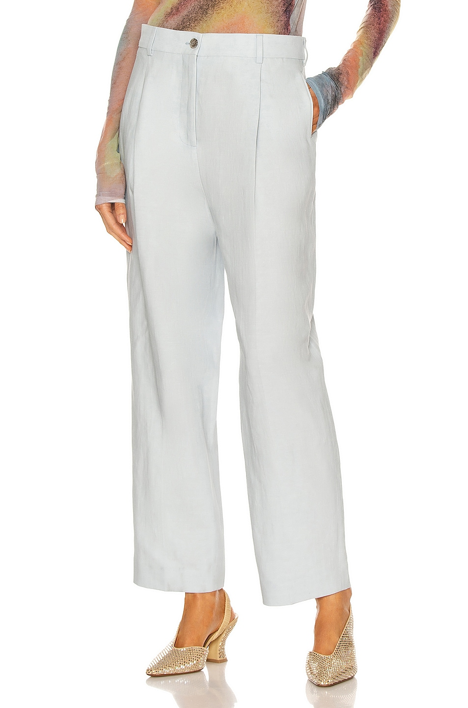 Image 1 of Acne Studios Pleated Pant in Ice Blue