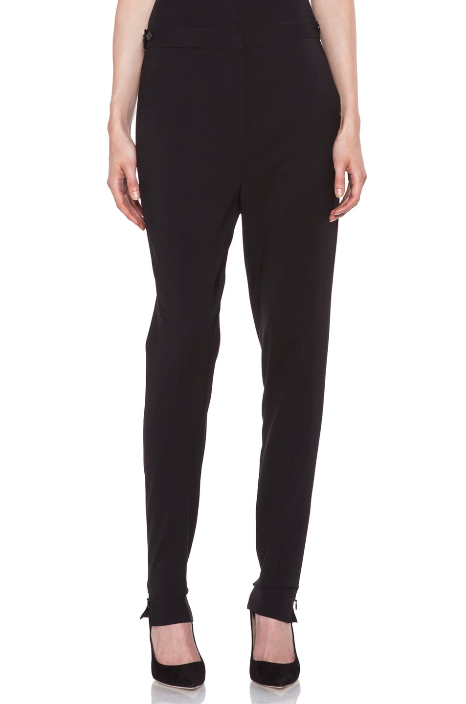 Image 1 of Acne Studios Constant Wool Trousers in Black Noir