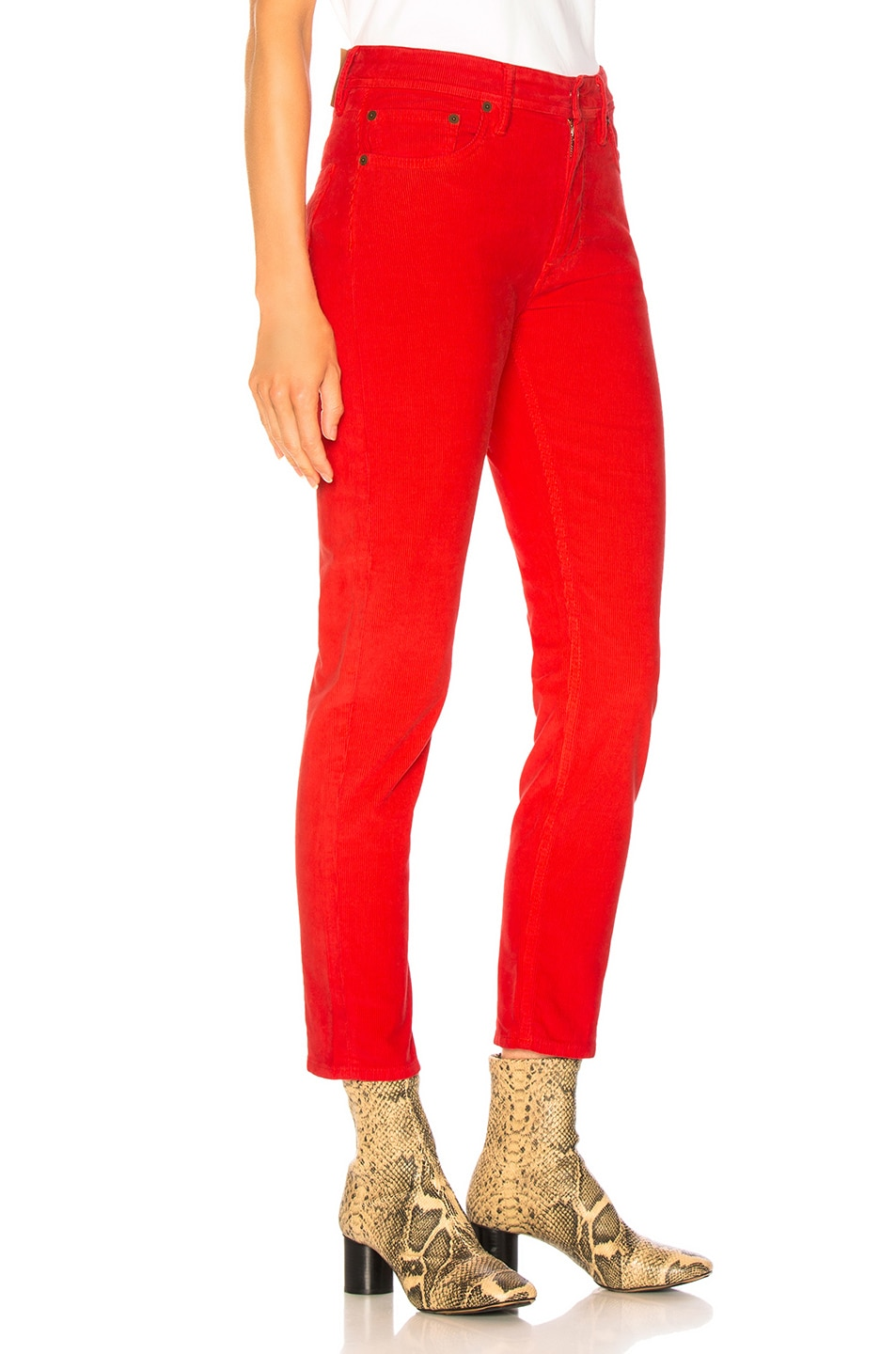 Image 2 of Acne Studios x Bla Konst Mel Corduroy Pant in Red