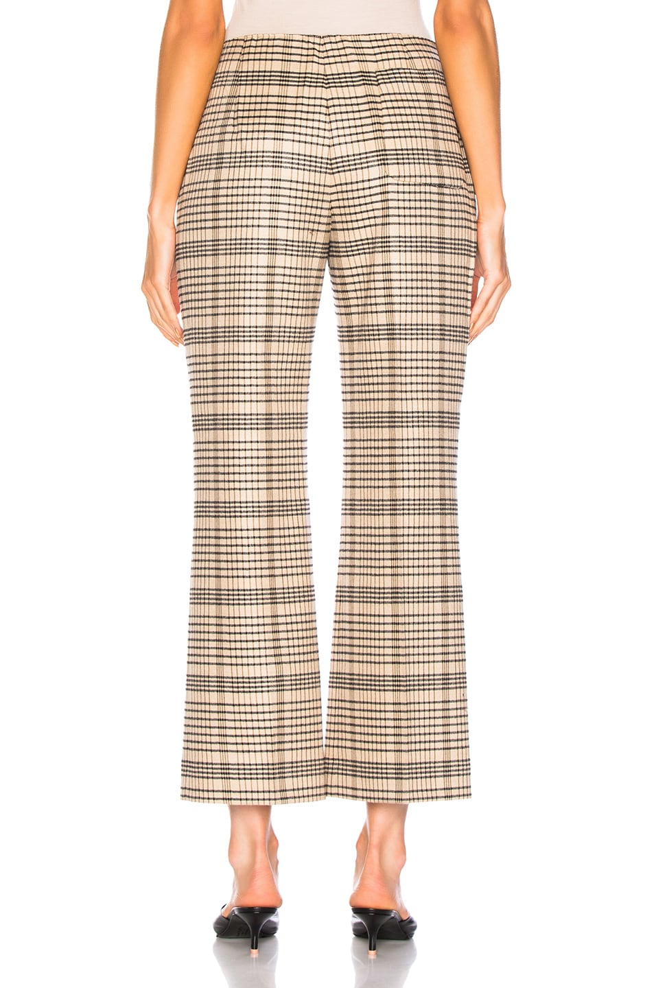 Image 3 of Acne Studios Cropped Trouser in Beige & Black