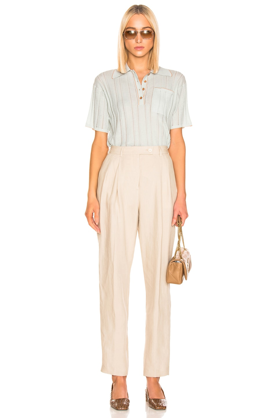 Image 4 of Acne Studios Pati Pant in Sand Beige