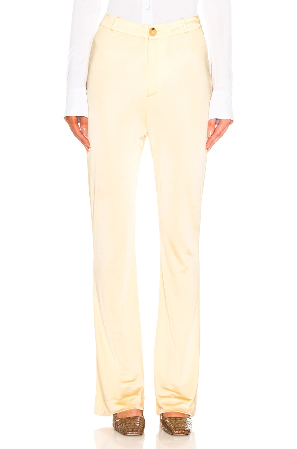Image 1 of Acne Studios Prissa Trouser Pant in Vanilla Yellow