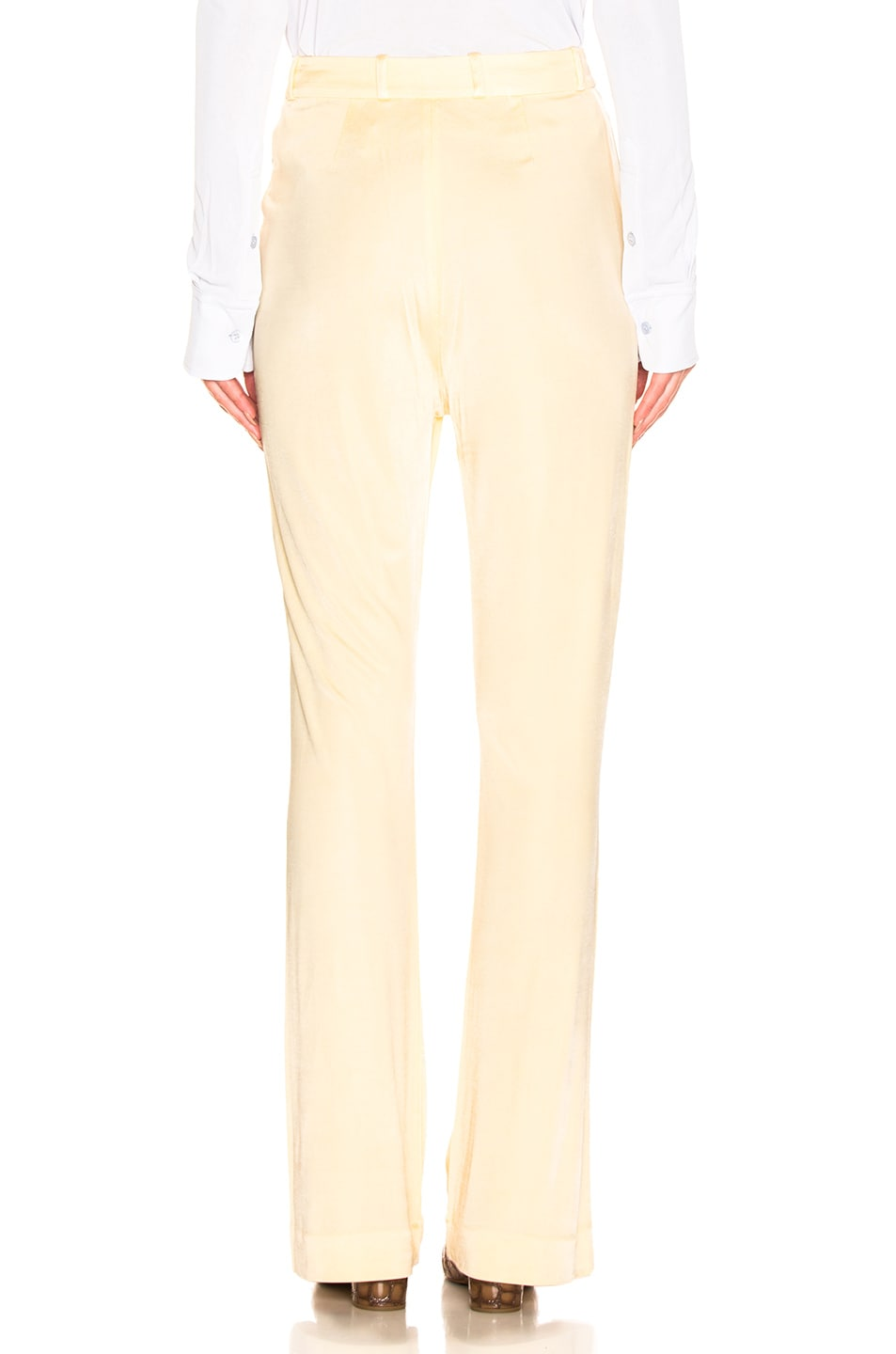 Image 3 of Acne Studios Prissa Trouser Pant in Vanilla Yellow