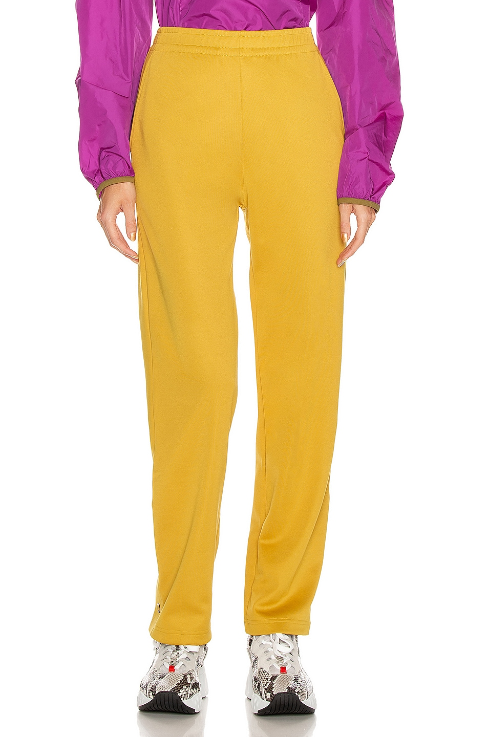 Image 2 of Acne Studios Emmett Face Pant in Amber Yellow