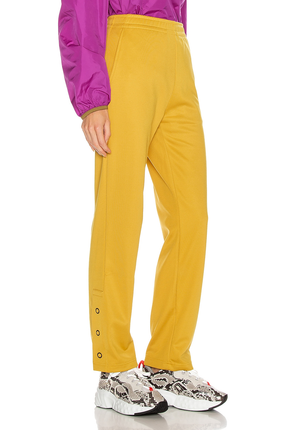 Image 3 of Acne Studios Emmett Face Pant in Amber Yellow
