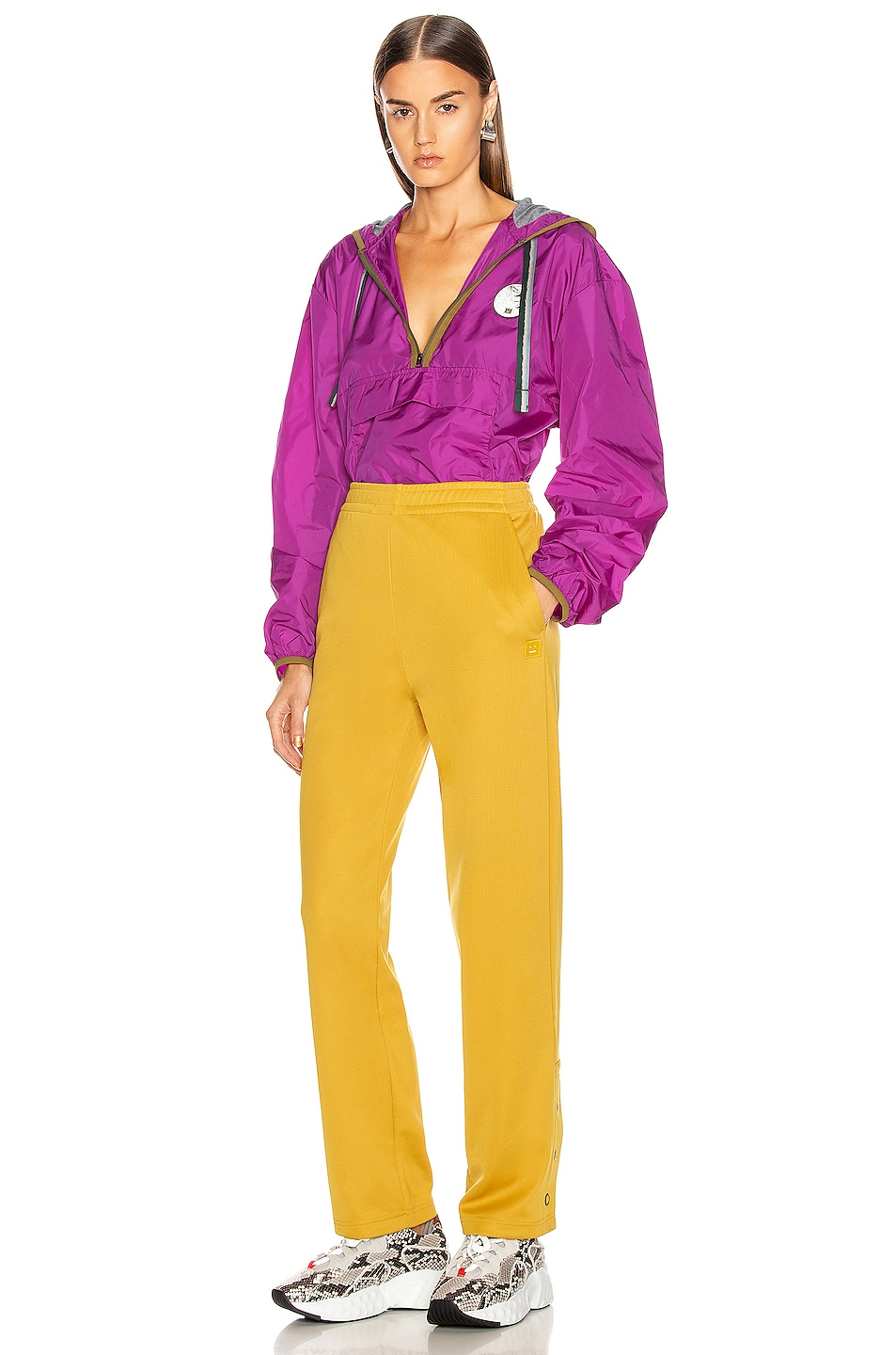 Image 5 of Acne Studios Emmett Face Pant in Amber Yellow