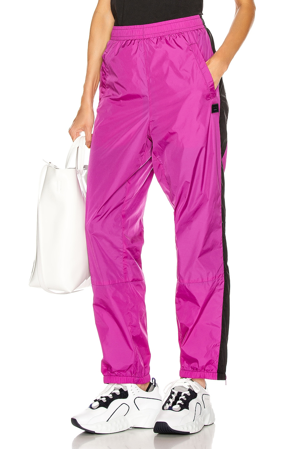 Image 1 of Acne Studios Phoenix Face Track Pant in Magenta Pink