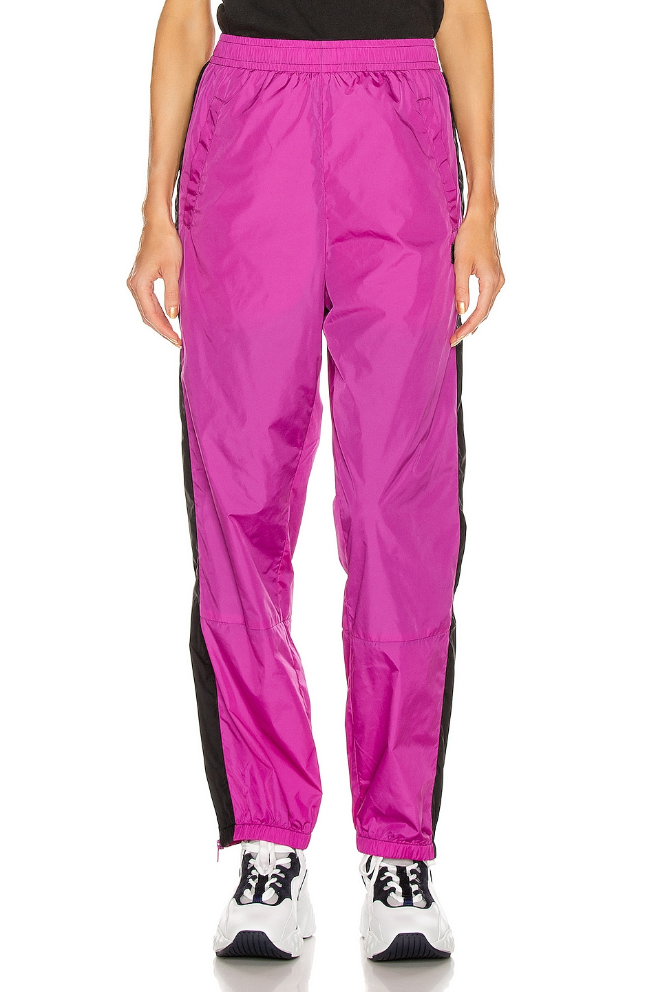 Image 2 of Acne Studios Phoenix Face Track Pant in Magenta Pink