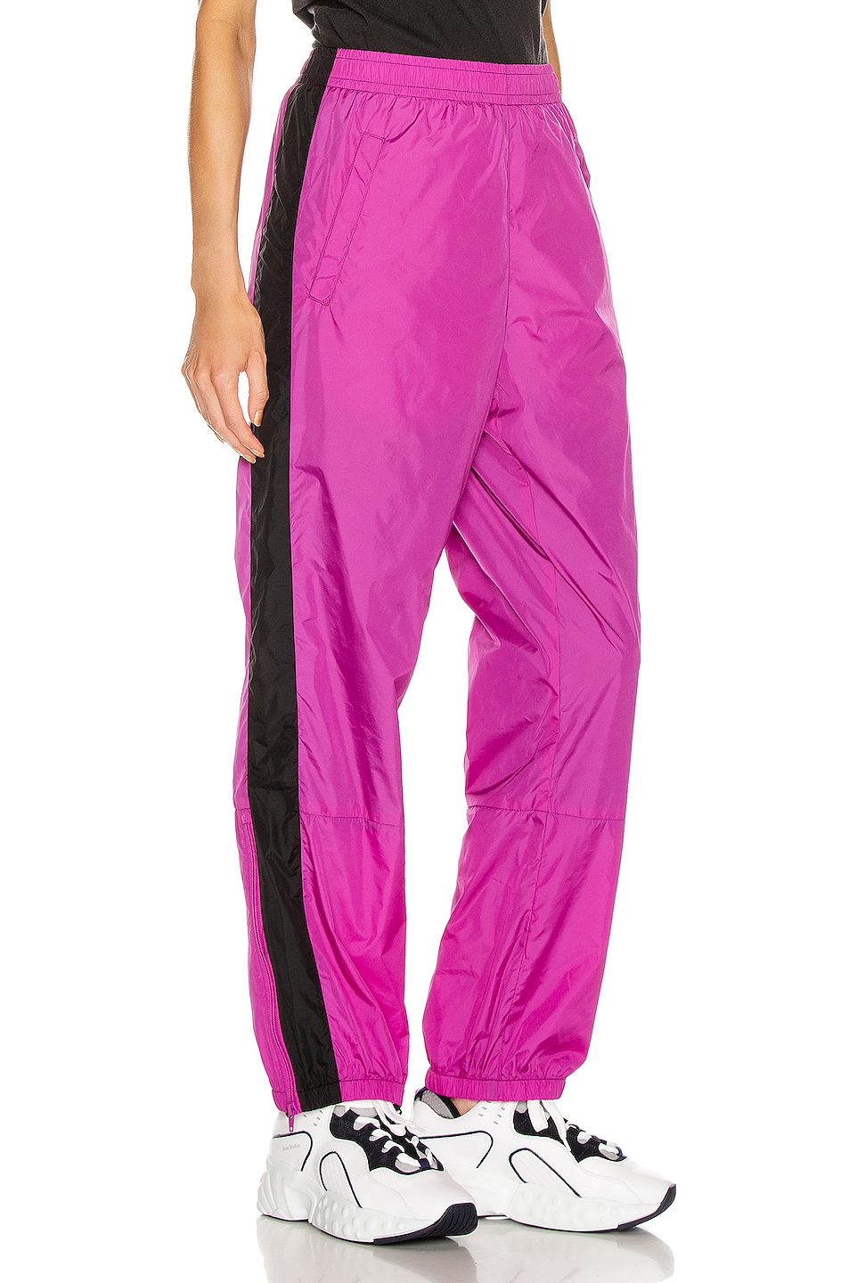 Image 3 of Acne Studios Phoenix Face Track Pant in Magenta Pink